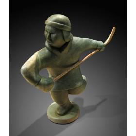 Inuit Hockey Player